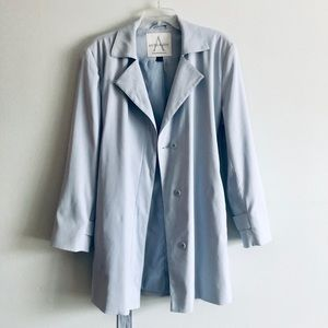 Anne Klein Periwinkle Trench Coat